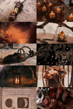 burning autumn witch aesthetic picspam