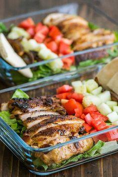 Meal Prep Chicken Shawarma Salads are a perfect healthy lunch for work. Meal Prep Chicken Shawarma Salads are a perfect healthy lunch for work. Healthy Lunches For Work, Prepped Lunches, Healthy Snacks, Healthy Recipes, Keto Recipes, Lunch Ideas For Work, Diet Lunch Ideas, Bag Lunches, Best Lunch Recipes