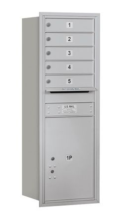Horizontal Mailbox 13 Door High Unit Single Column 6 Doors and 1 Parcel Locker Rear Loading USPS Access Address Plaque, Mailbox, Locker Storage, The Unit, Doors, Interior, Products, Shopping, Mail Drop Box