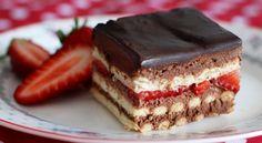 Gâteau petits beurre chocolat et fraises