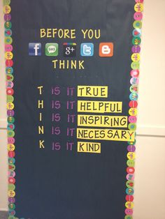 Classroom cyberbullying awareness poster