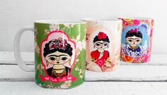 Mugs from Frida Kahlo!! Illustrations by Chunchitos