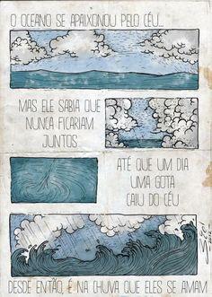 Amor entre oceano e céu..