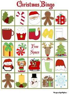 Christmas Bingo!!! Reinforcement activity for articulation drill. may make it a winter bingo to be culturally sensitive without the Santa Claus