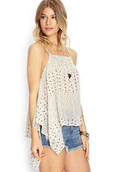 Forever21Camisole Coupe Trapèze Fleurie