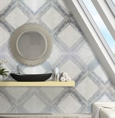 Bianco Carrara In Silver Wood Pattern From Our Decorative Tile Collection Is Used For
