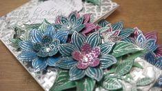 Jewel Flowers Stepper Card & Matching Box