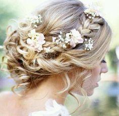peinado semirecogido rizado novia con velo - Buscar con Google