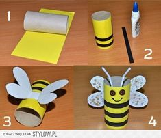 Toddler Paper Crafts, Paper Towel Roll Crafts, Bee Crafts For Kids, Summer Crafts For Toddlers, Paper Plate Crafts For Kids, Kindergarten Crafts, Preschool Crafts, Carnival Crafts, Ladybug Crafts