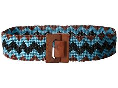 M&F Western Wide Stretch Beaded Chevron Belt