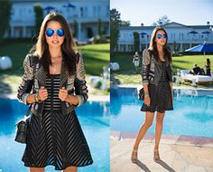Bcbg Jacket, Nanette Lepore Dress, Pura Lopez Heels, Bcbg Sunnies - Basically Black - Annabelle Fleur