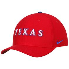 Men s Texas Rangers Nike Red Classic Swoosh Performance Flex Hat fb6c728c4