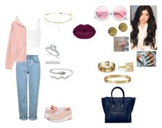 """sally going to the airport from Miami to Los Angeles."" by princesscece6 ❤ liked on Polyvore featuring Topshop, New Balance, CÉLINE, Chanel, ZeroUV, MANGO, David Yurman, Cartier, Tiffany & Co. and Winky Lux"