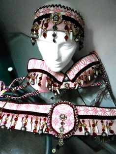 Tribaret Belly Dance Costume Bra Belt & Headpiece by RaqsRags
