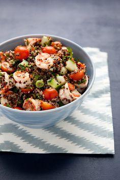 Quinoa Tabbouleh with Lemony Shrimp–Annie's Eats