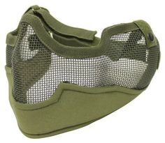 BRAVO Tac Gear Airsoft Metal Mesh Mask V2 OD Green by Bravo. $24.99. BRAVO Tac Gear Airsoft Metal Mesh Mask V2 OD Green - No Fog Metal Mesh with Non Reflective Coating - Adjustable Elastic Headband fits Most Sizes - Provides Protection for Cheek, ears, Nose & Lower Face Portion - Low Profile Design for Better Aiming Position & Cheek Weld - For Optimal Protection, please use along with Eye Goggles