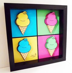 Hey, I found this really awesome Etsy listing at http://www.etsy.com/listing/102286681/ice-cream-art-kitchen-decor-andy-warhol