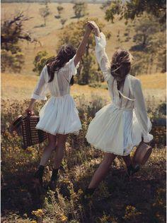 Besties. Teresa Palmer, Phoebe Tonkin by Will Davidson for Vogue Australia March 2015