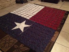 Texas Flag rag quilt