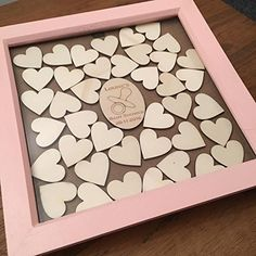 Baby Shower Guest Book Drop Top Box, Personalised Guestbook