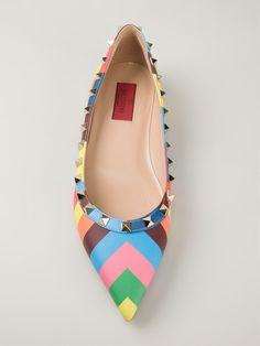 Valentino Garavani Sapatilha Modelo 'rockstud' - Vanilla Shoes & Bags - Farfetch.com