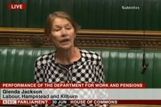 Labour MP Glenda Jackson attacked Iain Duncan Smith earlier this week, claiming he has destroyed the welfare state.