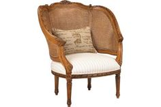 U-3076-0137 Regence Double Cane Arm Chair by French Heritage
