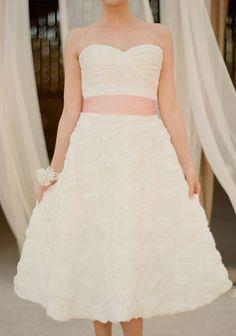 Tea Length Wedding Dress.. Shut the front door. MY DRESS!