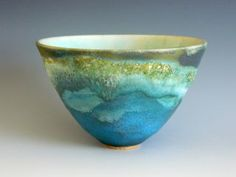 My favorite glaze combo. Too bad the potter wouldn't share the glaze process. Pottery Bowls, Ceramic Pottery, Pottery Art, Pottery Ideas, Ceramic Painting, Ceramic Art, Earthenware, Stoneware, Sculptures Céramiques