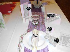 Tischdekoration Shabby chic für die Hochzeit, Silber- und Goldhochzeit