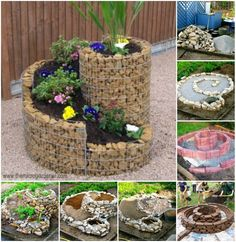 (via How to Build an Herb Spiral for Small Space (Video) | www.FabArtDIY.com)
