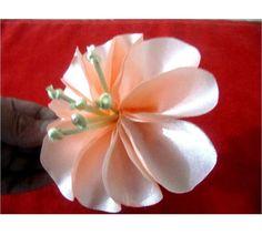 Moños hermosas flores fáciles en telas para el cabello