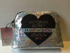 Victoria's Secret VS Fashion Show London 2014 Cosmetic Makeup Bag Glitter Sequin | eBay