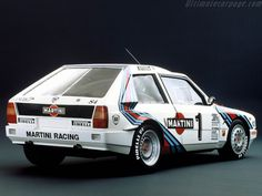 Lancia Delta Group B. Everything looks better with Martini racing stripes. Martini Racing, Maserati, Ferrari, Sport Cars, Race Cars, Race Racing, Auto Racing, Mopar, Carros Suv