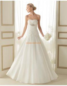 Schlichte trägerlose Hochzeitskleider aus Chiffon mit Kristall 142 ENORA | luna novias 2014