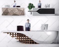 现代前台组合3d模型 Reception Counter Design, Office Reception Design, Office Table Design, Office Space Design, Office Furniture Design, Office Interior Design, Office Interiors, Commercial Design, Commercial Interiors