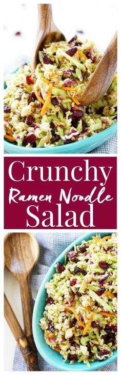 This Crunchy Ramen Noodle Salad is a light and delicious addition to your summer gatherings. No cooking required and it's ready in just 10 minutes! via @sugarandsoulco