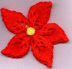 Knitting Pattern For Christmas Rose : Google and Search on Pinterest