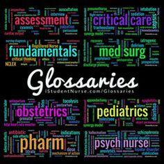 Critical Care Nursing Class Glossary: Terminology, Vocabulary, Phrases, Mnemonics & Acronyms @iStudentNurse #NurseHacks