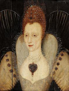 Queen Elizabeth I Tudor hanging on her breast, a very similar gold enameled pendant to the Darnley-Lennox jewel Elizabeth I, Tudor History, British History, Ancient History, Isabel I, Renaissance, White Beaded Dress, Elizabethan Era, Tudor Dynasty