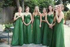 emerald green bridesmaid dresses | Sarah Kate Photography