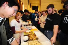 Each year LeTourneau University students sample food from other students' home countries at Our World Cafe. Free food + a cross-cultural experience = awesome. http://www.letu.edu/