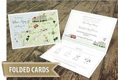 50 Custom Map Greeting Cards  Cute Wedding Map We're от cutemaps