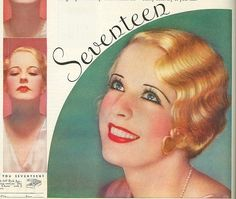 Soft finger waves and instantly noticeable black eyeliner from 1933. vintage hair style fashion