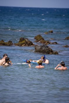 Snorkelers at Ulua Beach, South West Maui.