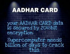 Aadhar Card  Cyber Security Latest Technology Updates, Aadhar Card, Tech News, Cyber, Neon Signs, Day, Cards, Maps, Playing Cards