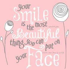 Your smile : )  ~princess sassy pants & co.