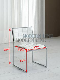 Modern furniture | Contemporary furniture | Nightclub Furniture | Designer Furniture | Indoor Collection | Dining Tables & Chairs | Dining Chair : Model CY318 | Contemporary Modern White Dining Room Chair with Brush Chrome Base