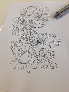 Sketch • tattoo sketch • Tattoo idea • drawing • sketch book • My artwork • jappan • jappan tattoo • carpa koi • oriental •