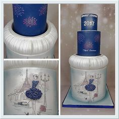 Happy new year Paris - Cake by madlcreations